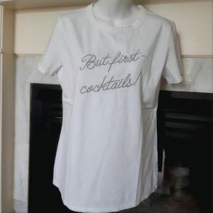 """Banana Republic """"But First~Cocktails!"""" Tee"""